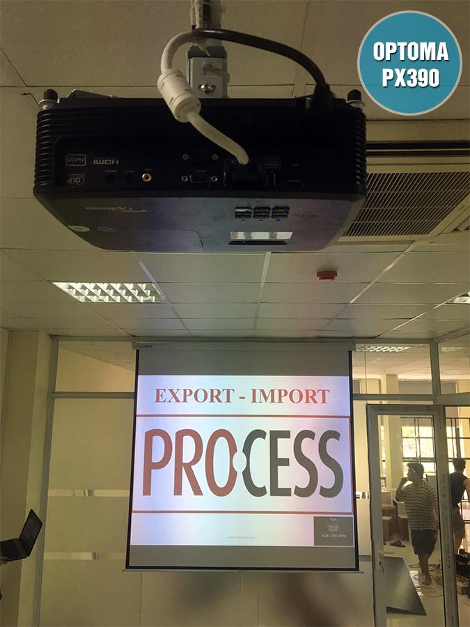 Lắp đặt máy chiếu văn phòng Optoma PX390 Quận Cầu Giấy