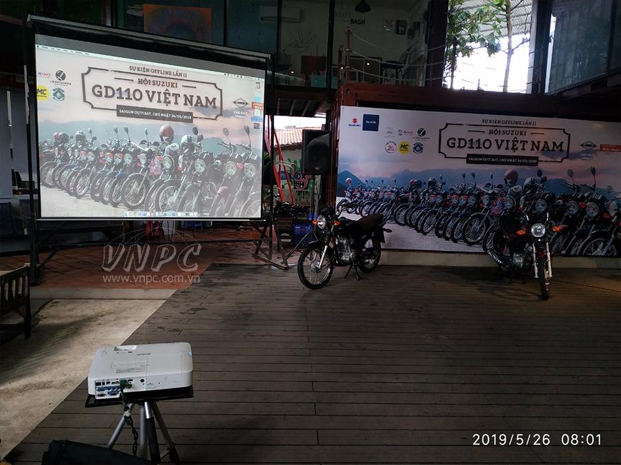 Cho thuê máy chiếu Offline CLB xe mô tô Suzuki tại Quận 2