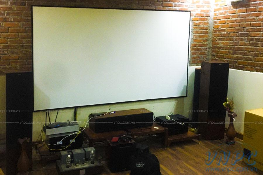 Lắp đặt màn chiếu khung cố định tại Hà Nội