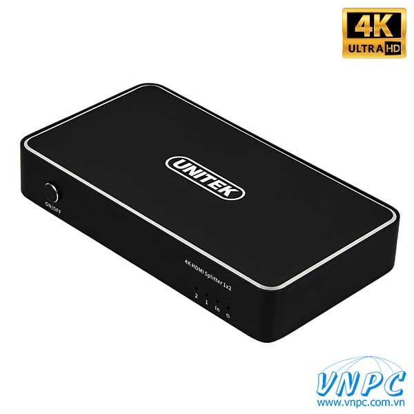 Bộ chia HDMI 1-2 Unitek chuẩn 4K