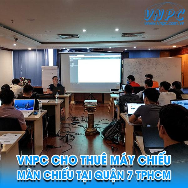 VNPC cho thuê máy chiếu màn chiếu tại quận 7 TpHCM