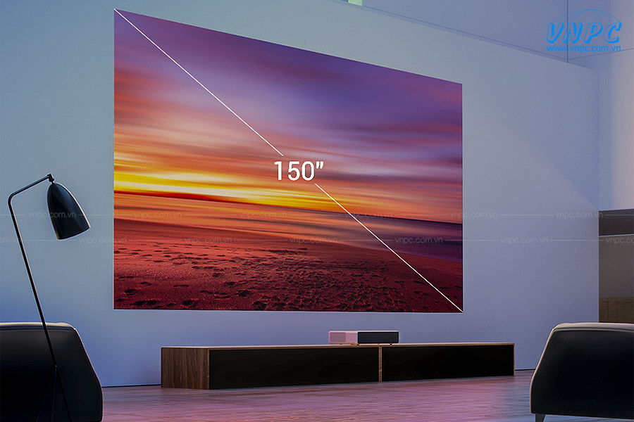 """Mi Laser Projector 150"""" máy chiếu siêu gần màn hình lớn giải trí tại gia"""