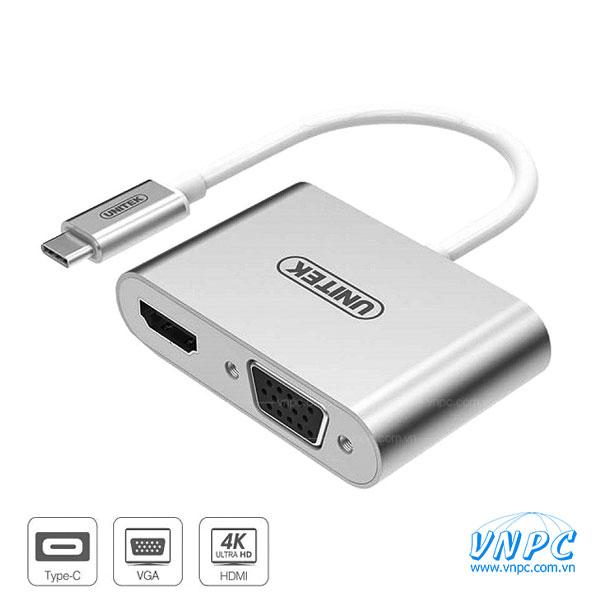Cáp chuyển Type-C to HDMI và VGA