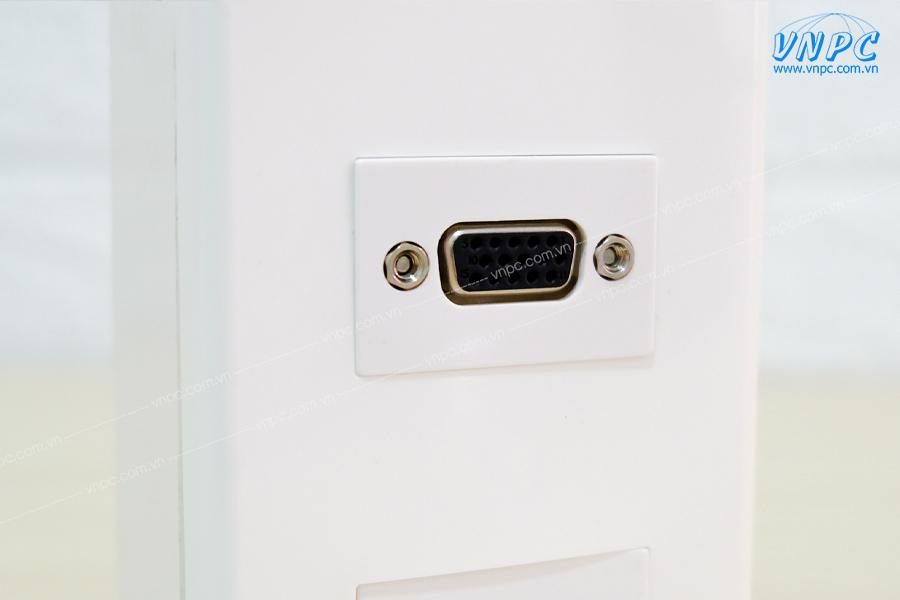 Bộ wallplate 2 cổng âm tường HDMI-VGA