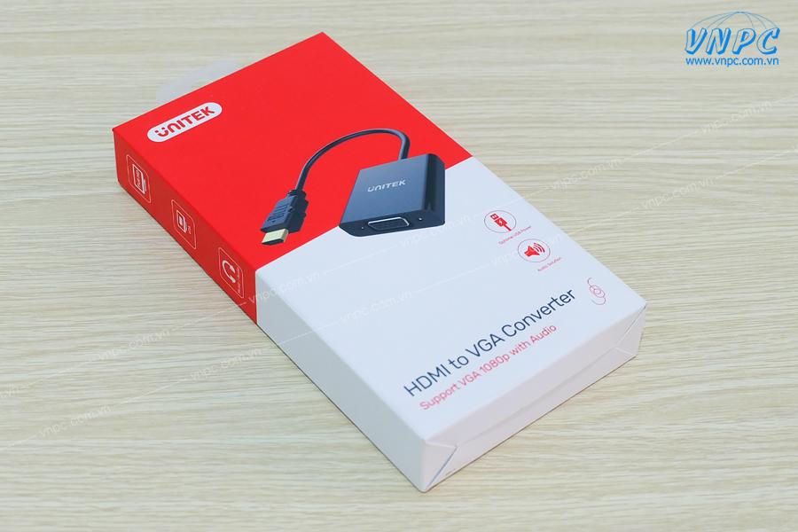 Cáp chuyển đổi HDMI sang VGA chính hãng Unitek