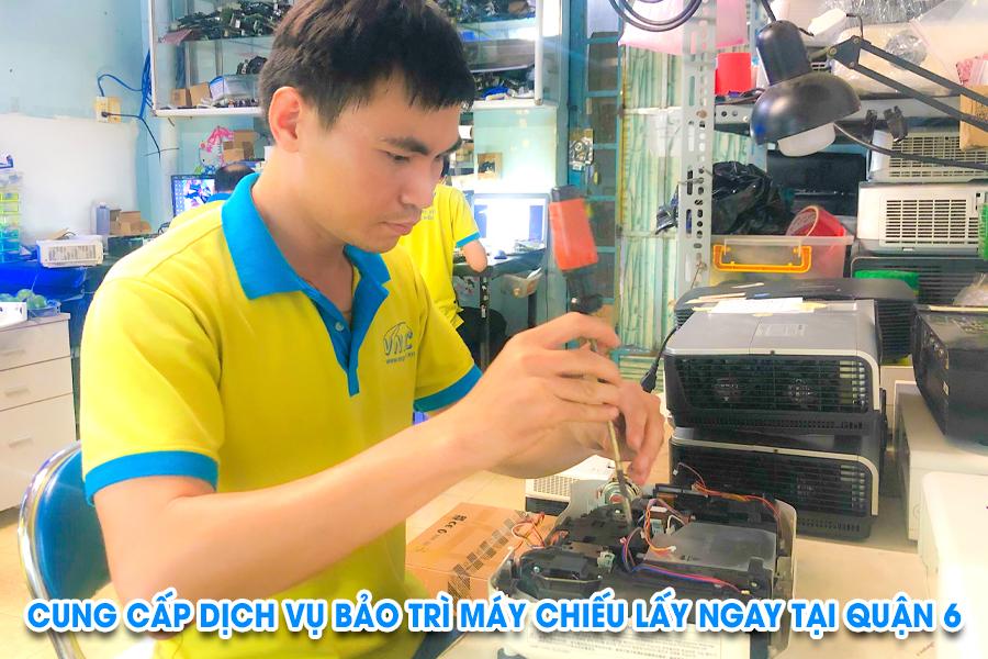 bảo trì máy chiếu tại quận 6 tphcm