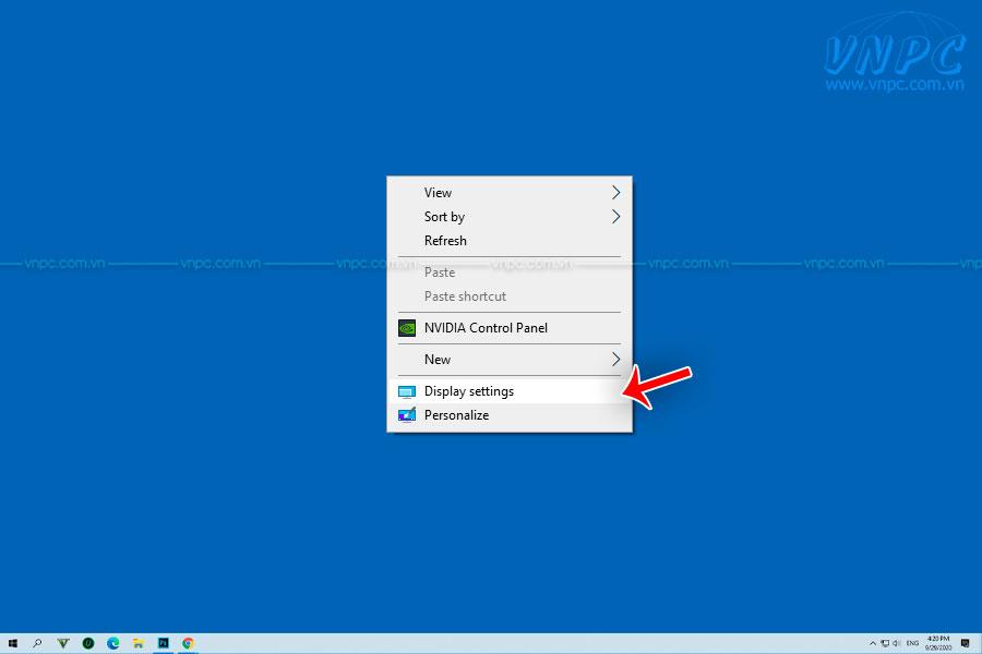 Cách chỉnh độ phân giải trên laptop để kết nối máy chiếu