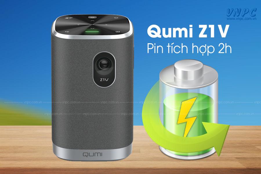 máy chiếu mini dùng pin sạc Vivitek Qumi Z1V