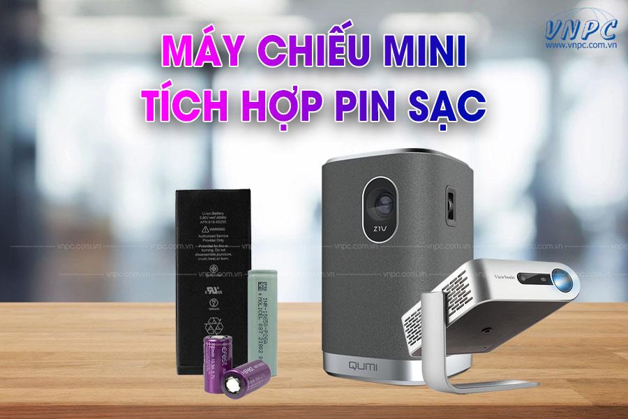 Máy chiếu mini tích hợp pin sạc