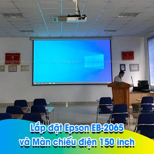 Lắp đặt máy chiếu Epson EB-2065 tại hội trường Cty Giày Thiên Lộc