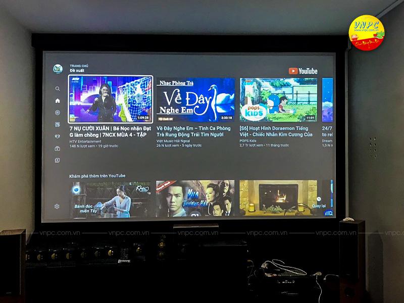 VNPC lắp đặt máy chiếu ViewSonic PX747-4K và Màn chiếu khung