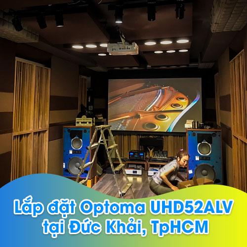 Lắp đặt máy chiếu Optoma UHD52ALV cho phòng phim gia đình