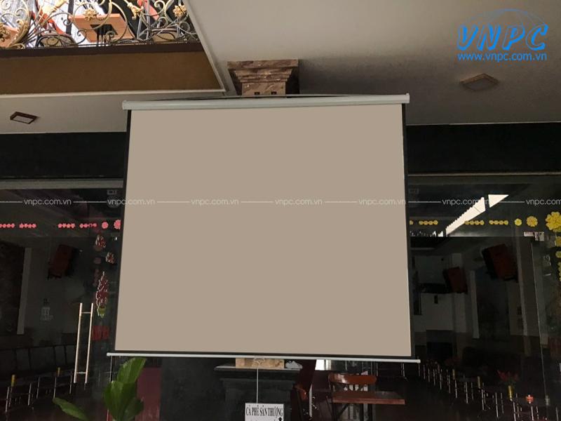 Lắp đặt Optoma PW450 và Màn chiếu 135inch tại LEO Coffee Bình Chánh