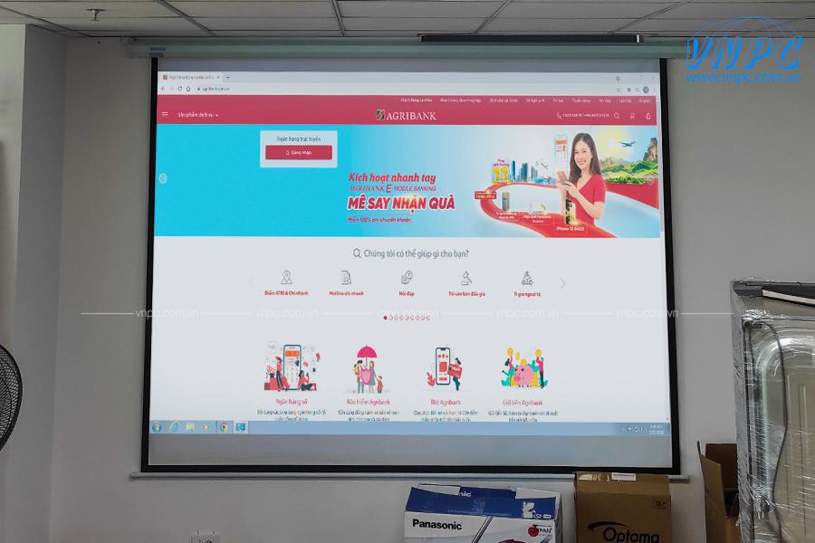 Lắp đặt máy chiếu Optoma PW450 tại Agribank Hà Nội